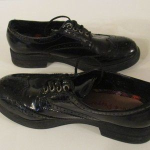 Womens Pink Pepper Black Saddle Shoes Oxford 6.5
